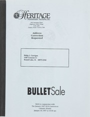 Bullet Auction: Held in conjunction with the January 1997 FUN Convention