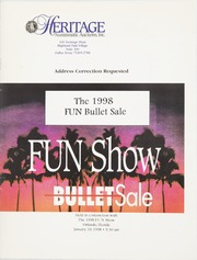 Bullet Auction: Held in conjunction with the 1998 FUN Show