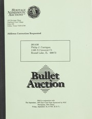 Bullet Auction: Held in conjunction with the September 1993 East Coast Expo Sponsored by NGC