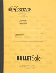Bullet Auction: Held in conjunction with the May 1997 Arizona Coin Expo