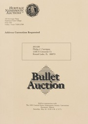 Bullet Auction: Held in conjunction with the 1993 Central States Numismatic Society Convention