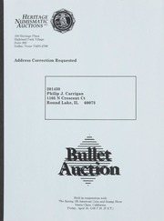Bullet Auction: Held in conjunction with the Spring All-American Coin and Stamp Show