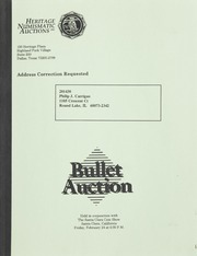 Bullet Auction: Held in conjunction with the Santa Clara Coin Show