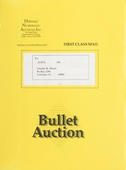 Bullet Auction: Held in conjunction with the 1990 American Numismatic Association Convention