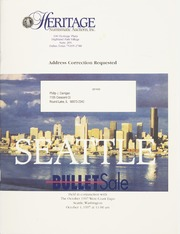 Bullet Auction: Held in conjunction with the October 1997 West Coast Expo