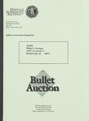 Bullet Auction: Held in conjunction with the 1994 East Coast Expo