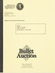Bullet Auction: Held in conjunction with the East Coast Expo