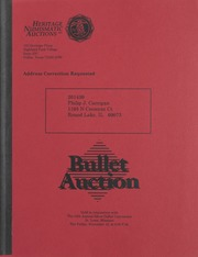Bullet Auction: Held in conjunction with the 14th Annual Silver Dollar Convention