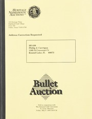 Bullet Auction: Held in conjunction with the National Gold Convention