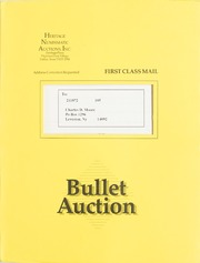 Bullet Auction: Held in conjunction with the St. Louis Silver Dollar Convention