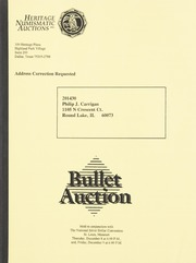 Bullet Auction: Held in conjunction with the National Silver Dollar Convention