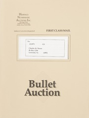 Bullet Auction: Held in conjunction with the 1991 National Silver Dollar Convention