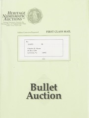 Bullet Auction: Held in conjunction with the 1992 National Gold Convention