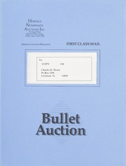 Bullet Auction: Held in conjunction with the March 1991 Tampa Gold Convention