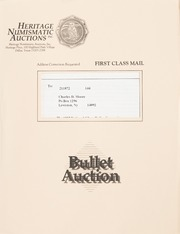 Bullet Auction: Held in conjunction with the 1992 Silver Dollar Convention