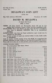 Bullowa's Coin List: June 1959
