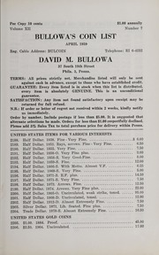 Bullowa's Coin List: April 1959