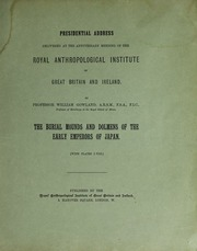 The burial mounds and dolmens of the early emperors of Japan