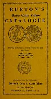Burton's Rare Coin Value Catalogue [Prices Paid For List]
