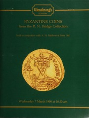 Byzantine coins from the R.N. Bridge collection, sold in conjunction with A.H. Baldwin & Sons Ltd., [including] a Jerusalem Heraclius solidus, facing bust with pointed beard in the style of Focas, wearing crown and holding cross; ... [03/07/1990]