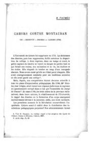 Cahors contre Montauban: un institut promis à Cahors (1792)