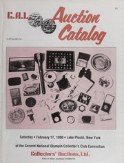 C.A.L. Auction Catalog: Catalog 34