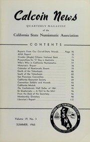 Calcoin News, vol. 19, no. 3