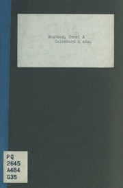 Calochard and cie.; comédie en un acte