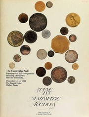 The Cambridge sale, featuring coins from over 200 different consignors, including a bequest to Harvard University ... [12/12-13/1982]