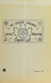 Canadian Numismatic Association: Library List