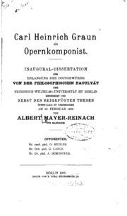 Carl Heinrich Graun als Opernkomponist