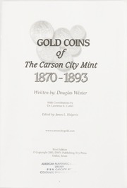 Gold Coins of the Carson City Mint