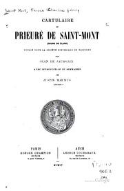 Cartulaire du prieure de Saint Mont (ordre de Cluny)