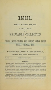 Catalogue of ... Choice United States and Foreign Coins ..., No. 60