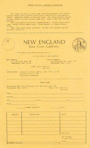 New England Rare Coin Galleries: Catalog Mailer #5