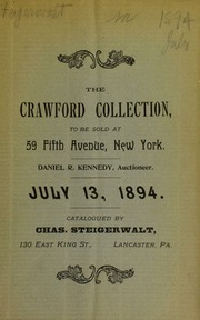 Catalog of the collection of George T. Crawford ... [07/13/1894]