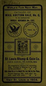 Catalog of mail auction sale, no. 6. [11/09/1903]