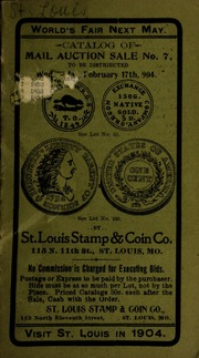 Catalog of mail auction sale no. 7. [02/17/1904]