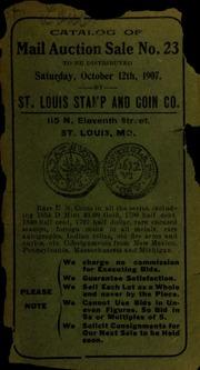 Catalog of mail auction sale no. 23. [10/12/1907]