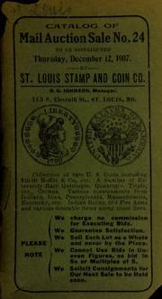 Catalog of mail auction sale no. 24. [12/12/1907]