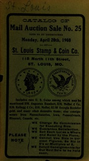 Catalog of mail auction sale no. 25. [04/20/1908]