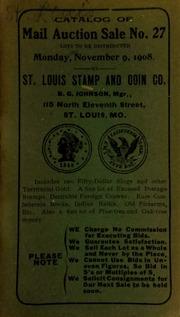 Catalog of mail auction sale no. 27. [11/09/1908]