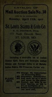 Catalog of mail auction sale no. 30. [04/11/1910]