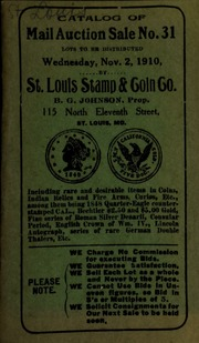 Catalog of mail auction sale no. 31. [11/02/1910]
