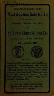 Catalog of mail auction sale no. 13. [10/07/1905]