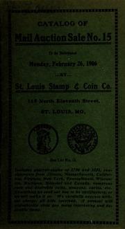 Catalog of mail auction sale no. 15. [02/26/1906]