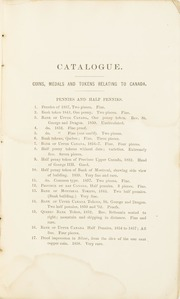Catalogue of a Valuable Collection of American Coins & Medals, the Property of Charles Clay, M.D.