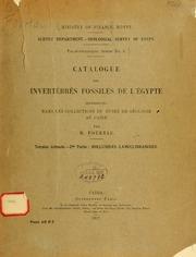 Vol ptie 2: Catalogue des invertébrés fossiles de lÉgypte : représentés dans les collections du Museée de géologie au Caire