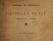 Catalogue des publications de Georges Petit