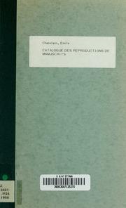 Catalogue des reproductions de manuscrits qui se trouvent à la Bibliothèque de lUniversité de Paris Sorbonne